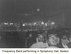 Frequency Band performing in Symphony Hall, Boston